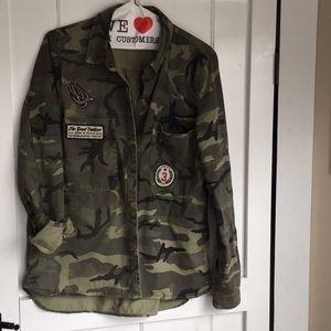 Zara military camouflage jacket/shirt size S